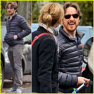 James McAvoy &#038; Anne-Marie Duff: Rainy London Afternoon!
