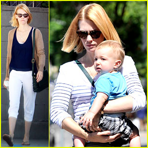 January Jones: Window Shopping with Xander!
