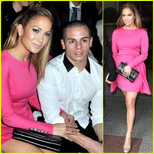 Jennifer Lopez: Valentino Fashion Show with Casper Smart!