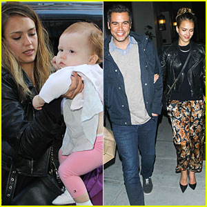 Jessica Alba: Spago Dinner Date with Cash Warren!