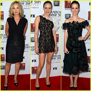 Jessica Lange & Chloe Sevigny: 'American Horror Story' Premiere!