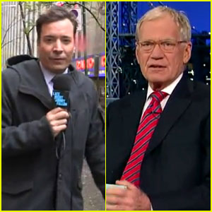 Jimmy Fallon & David Letterman: No Audiences Due to Hurricane Sandy - Watch Now!