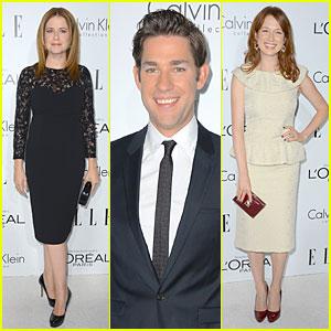 John Krasinski & Jenna Fischer - Elle Women in Hollywood 2012