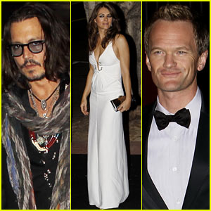Johnny Depp & Neil Patrick Harris: Elton John's Husband's 50th Birthday Party!