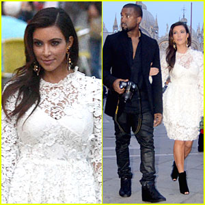 Kanye West & Kim Kardashian: Birthday Dinner in Venice!