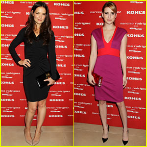 Katie Holmes & Emma Roberts: Narciso Rodriguez Kohl's Launch Party!