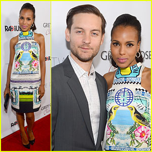 Kerry Washington & Tobey Maguire: 'The Details' Hollywood Premiere!