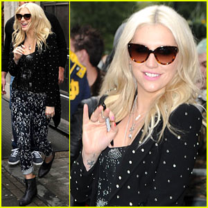 Ke$ha: Early Morning Radio Promotion in London!