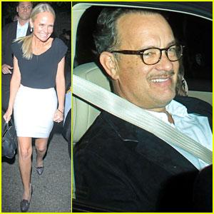 Kristin Chenoweth & Tom Hanks Attend Rita Wilson's Concert