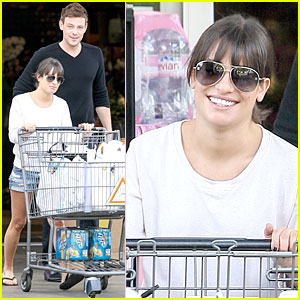 Lea Michele & Cory Monteith: Football Sunday Cooking!