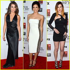 Lea Michele & Jenna Dewan: 'American Horror Story' Screening!