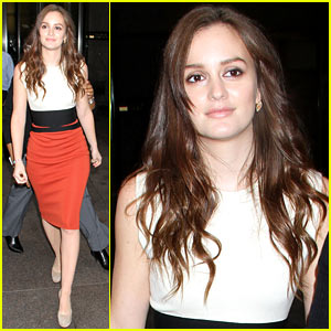 Leighton Meester Promotes 'The Oranges' in the Big Apple!