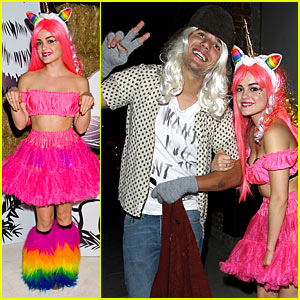 Lucy Hale & Chris Zylka - Just Jared Halloween Party 2012