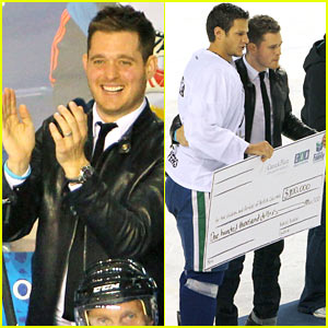 Michael Buble: Bieksa's Buddies Charity Hockey Game