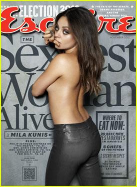 Mila Kunis: Topless 'Esquire' Magazine Cover