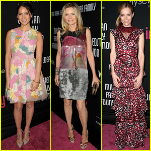 Olivia Munn & Michelle Pfeiffer: Pink Party Benefit!