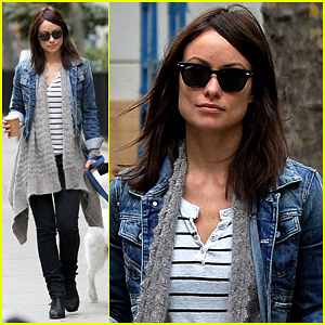 Olivia Wilde: New York Stroll with Paco!