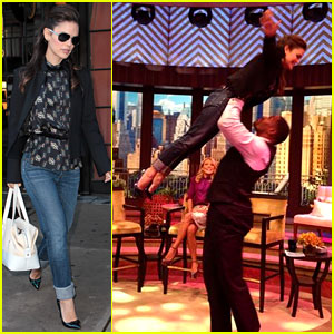 Rachel Bilson Gets 'Dirty Dancing' Lift from Michael Strahan!