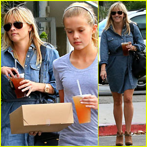 Reese Witherspoon: Brentwood Lunch with Ava!