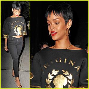 Rihanna: Emilio's Ballato East Village Dinner!