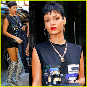 Rihanna Visits Gran Gran Dolly's Apartment in Brooklyn