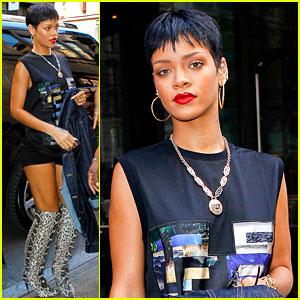 Rihanna Visits Gran Gran Dolly's Apartment in Brooklyn