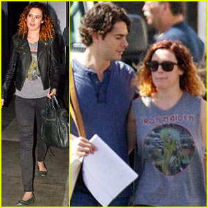 Rumer Willis Visits Jayson Blair on 'New Normal' Set!