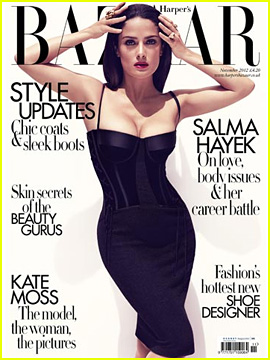 Salma Hayek Covers 'Harper's Bazaar UK' November 2012