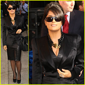 Salma Hayek: 'Late Show with David Letterman' Guest!