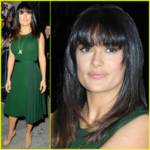 Salma Hayek: New Shorter Bangs!