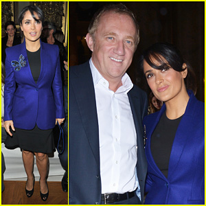 Salma Hayek: Stella McCartney Paris Fashion Week Show!