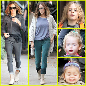 Sarah Jessica Parker: School Walk with The Kids!