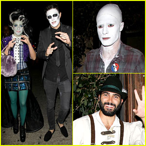 Shenae Grimes & Josh Beech: Matthew Morrison's Halloween Party 2012!