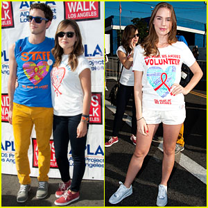 Sophia Bush & Christa B. Allen: AIDS Walk!
