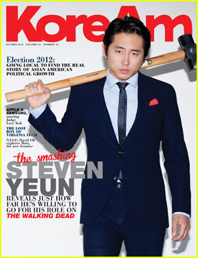 Steven Yeun Covers 'KoreAm' Magazine