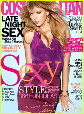 Taylor Swift Covers 'Cosmopolitan' December 2012
