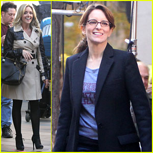 Tina Fey: '30 Rock' Set with Jane Krakowski!