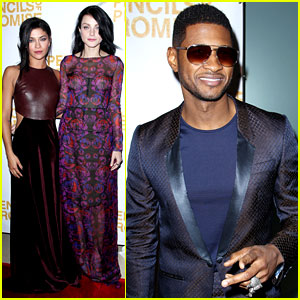 Usher & Jessica Szohr: Pencils of Promise Gala 2012!