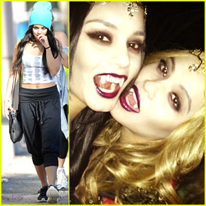 Vanessa Hudgens: Vampire Costume with Stella!