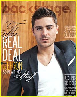 Zac Efron Covers 'Backstage' Magazine