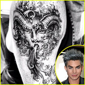 Adam Lambert Debuts New Astrology Themed Tattoo!