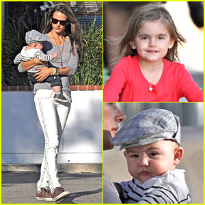 Alessandra Ambrosio: Ice Cream Stop with Anja & Noah!