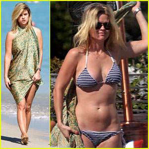 Alice Eve: Poolside Bikini in Miami!