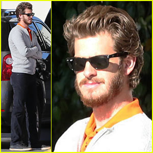 Andrew Garfield: Bearded Gas Run