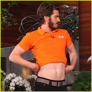 Andrew Garfield Belly Dances for Charity on 'Ellen'!