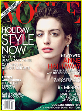 Anne Hathaway Covers 'Vogue' December 2012!