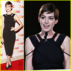 Anne Hathaway: Women's Media Awards Host!