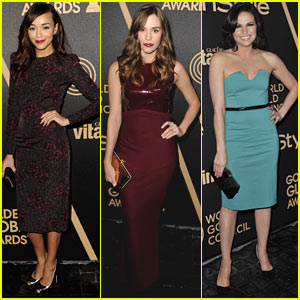 Ashley Madekwe & Christa B. Allen: HFPA & InStyle Golden Globes Celebration!