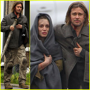 Brad Pitt: 'World War Z' Re-Shoots! | Brad Pitt : Just Jared