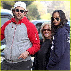 Bradley Cooper & Zoe Saldana: Thanksgiving Day Outing!